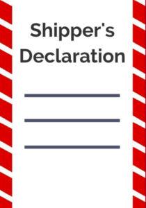 shipper declaration